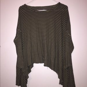 Free People Relaxed Crop Shirts